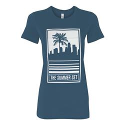 Skyline Turquoise Girl's T-Shirt