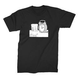 Coffee/Clock Black