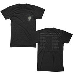 Squares Heather Black Pocket Tee