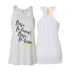 Be Brave Womens Racerback White
