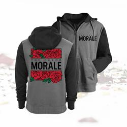 Roses Charcoal Heather/Army Heather Zip UP