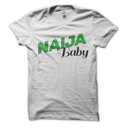 Naija Baby On White Girl's T-Shirt