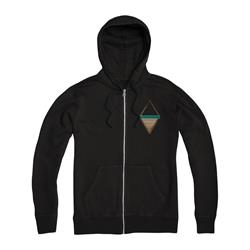 Unplugged Black Zip-Up Sweatshirt