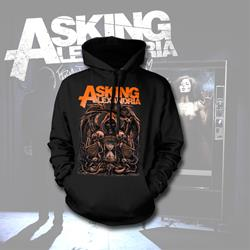 Death Black Hooded Sweatshirt