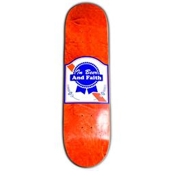In Beer & Faith Red Skate Deck