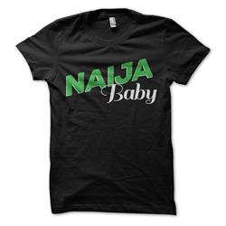 Naija Baby On Black Girl's T-Shirt