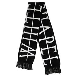 Strike Through Black Scarf