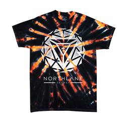 Sphere Black w/ Orange Spider Tie Dye