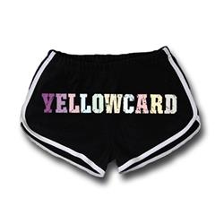 Yellowcard - Colorful Full Logo Black Track Shorts