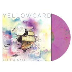 Yellowcard - Lift A Sail Purple W/Red, Blue, Yellow Splatter LP