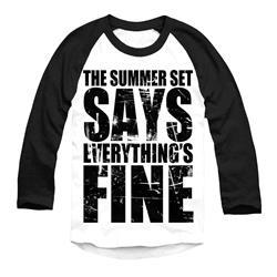 Everything's Fine Black/White Baseball Shirt