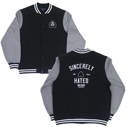 Sincerely Hated Black/Grey Varsity