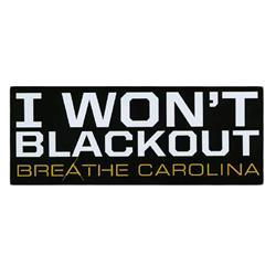 I Won't Black Out Black