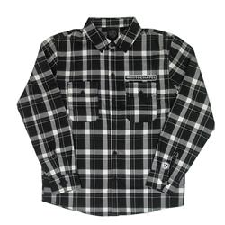 Grey Sawblade Custom Flannel