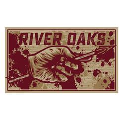 River Oaks Hand & Arrow  Screened Print