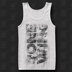One Wing White Tank Top