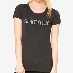 Fitted Girls' Tee Charcoal Black