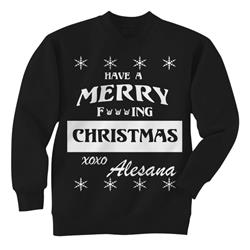 Merry Fucking Christmas Black Crewneck