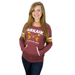Arrow Logo Slouch Girls Pully (Burgundy)