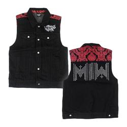 Logo Studded Denim Vest