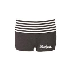 Hooligans Script Grey/White Yoga Shorts