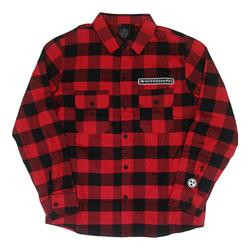 Red Sawblade Custom Flannel