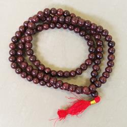 Rosewood Large Bead Unknotted