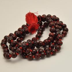Rosewood Large Bead Knotted