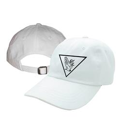 All Hell White Buckle Hat