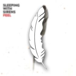 Feather White Sticker