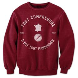 Paris Maroon Crewneck