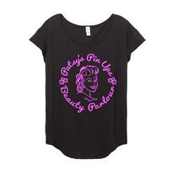 Pink Logo on Girl's Origin Cotton Modal T-Shirt