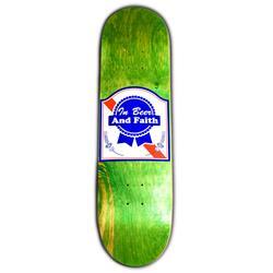 In Beer & Faith Green Skate Deck