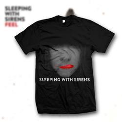 Sealed Lips Black T-Shirt