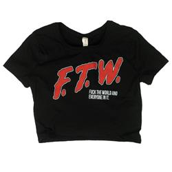 F.T.W. Black Crop Top /Small