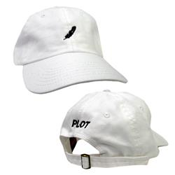 Feather White Dad Hat