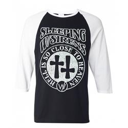Heaven/Hell Black/White Raglan