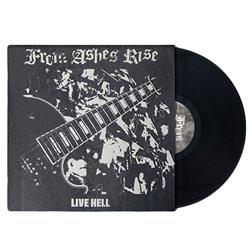 Live Hell Dark Gray Marble Silver Silk Screened Cover LP Vinyl