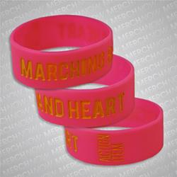 Marching Band Heart Pink W/ Yellow