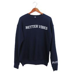 Better Vibes Text Navy