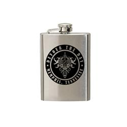 Soar Shield Silver Flask