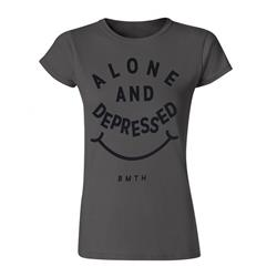 Alone And Depressed Charcoal Girl's T-Shirt