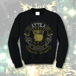 Biker Black Crewneck Sweatshirt