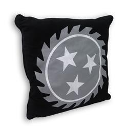Sawblade Black Throw Pillow