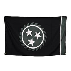 Sawblade Black 3 X 5 Flag