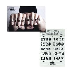 Knuckle Temporary Tattoos