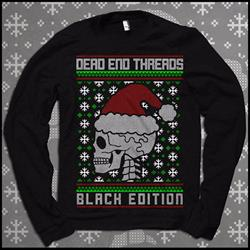 Skele-Santa Black Holiday Sweater