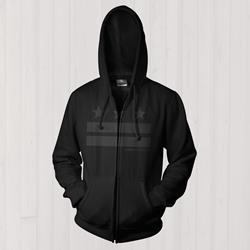 Stripes Black Zip-Up Sweatshirt
