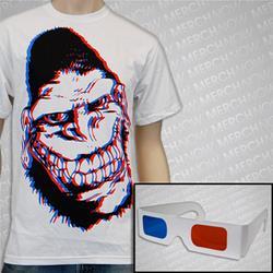 3D Gorilla White  W/ 3D Glasses