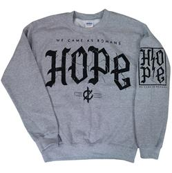 Cracked Hope Heather Grey Crewneck